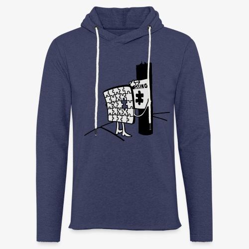 Puzzle Missing, Vermißt ein stück seiner selbst Pullover - Leichtes Kapuzensweatshirt Unisex