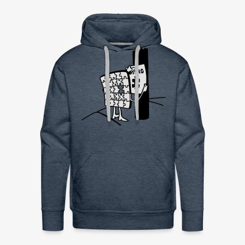 Puzzle Missing, Vermißt ein stück seiner selbst Pullover - Männer Premium Hoodie