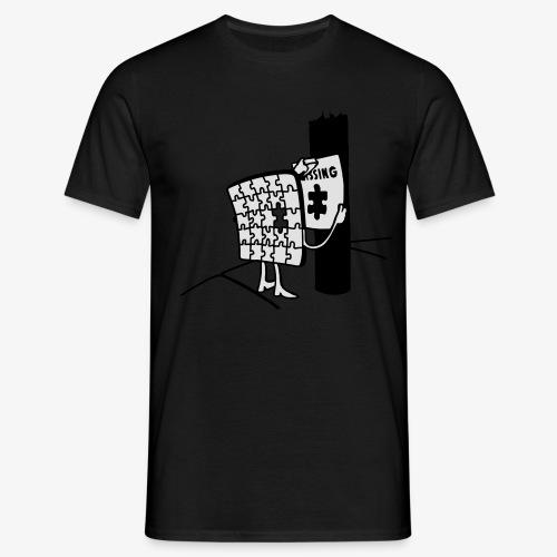 Puzzle Missing, Vermißt ein stück seiner selbst Pullover - Männer T-Shirt