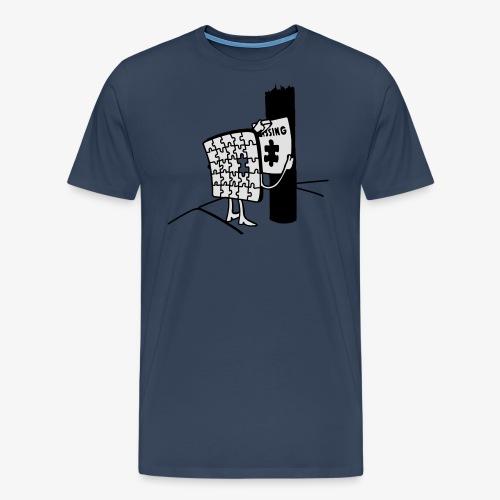 Puzzle Missing, Vermißt ein stück seiner selbst Pullover - Männer Premium T-Shirt