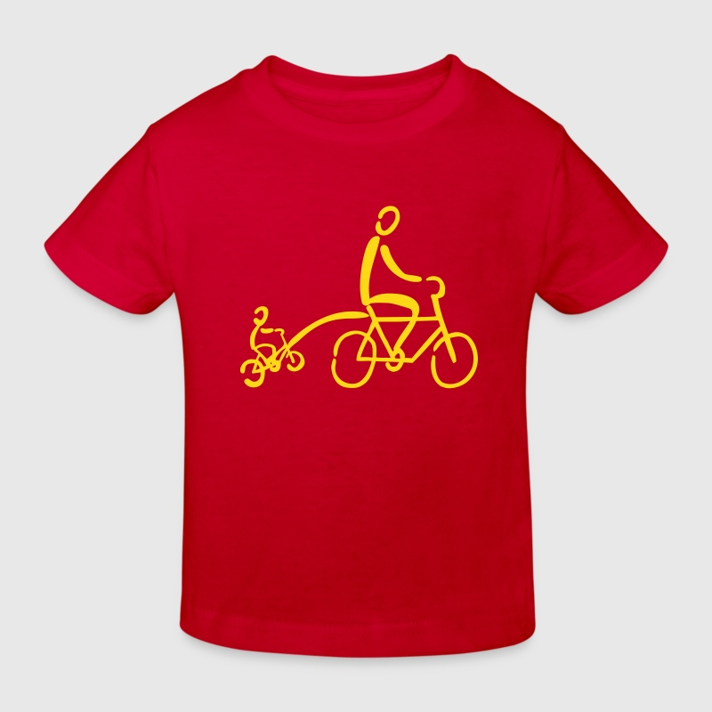 Tandem trekhaak Tandem Bike - Kinderen Bio-T-shirt