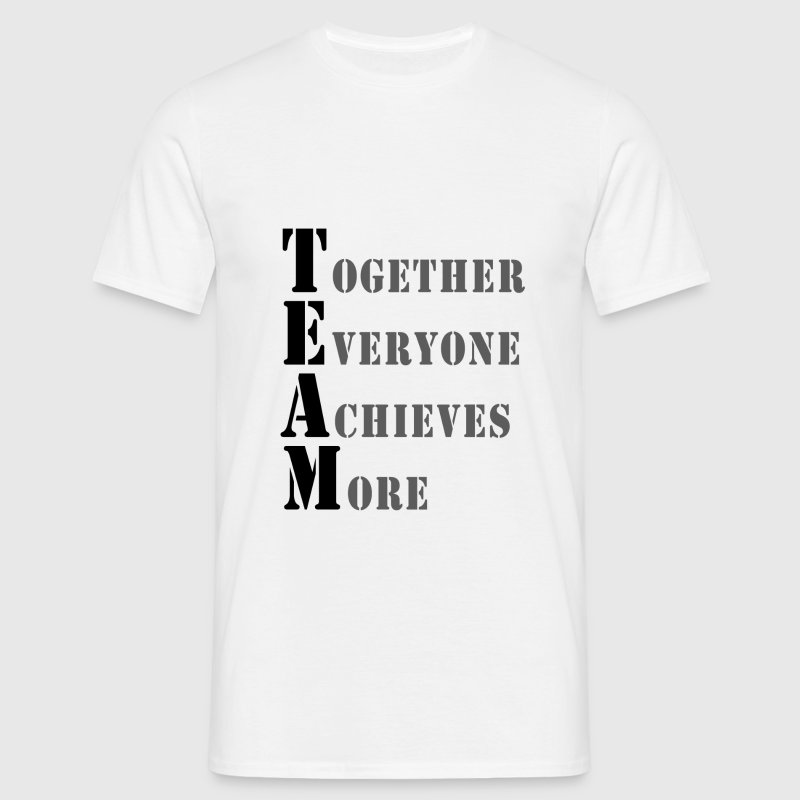 D.F.A. Designs - TOGETHER EVERYONE ACHIEVES MORE - Men's T-Shirt