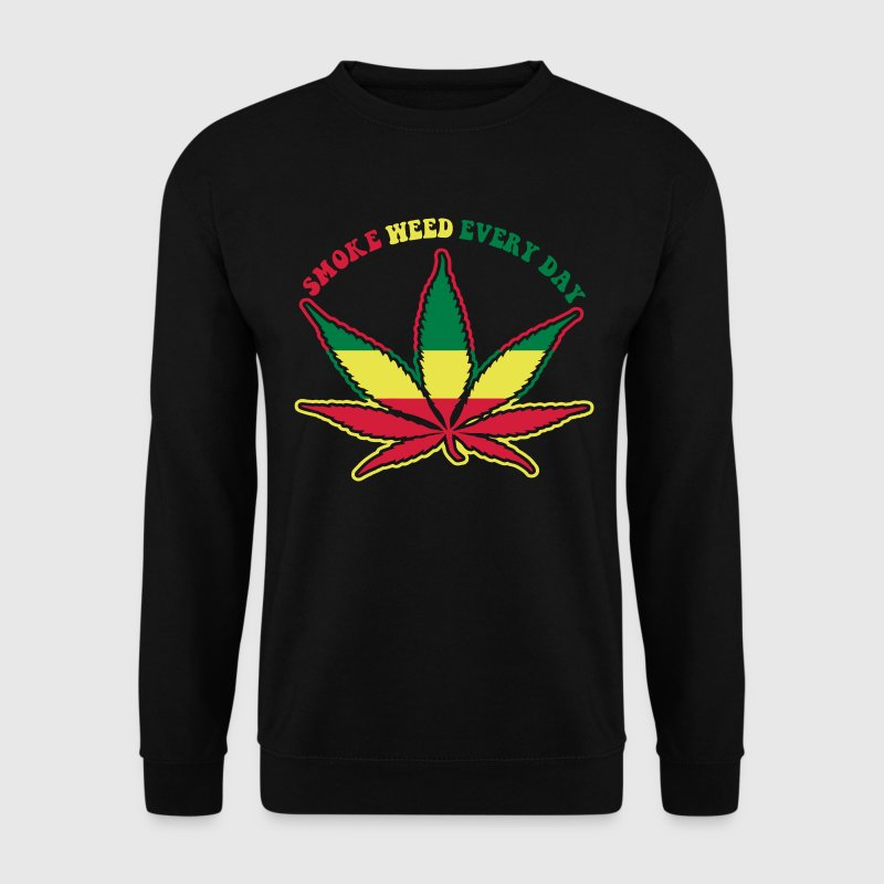 smoke weed every day Pullover - Männer Pullover