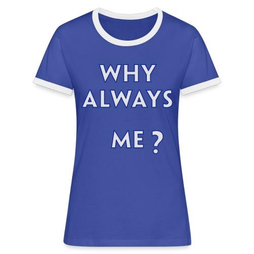 Balottelli - Why Always Me - Italia Retro T - Women's Ringer T-Shirt