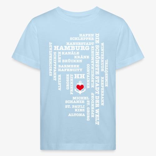 HAMBURGER Begriffe Kinder T-Shirt Hamburg blau + alle Farben - Kinder Bio-T-Shirt