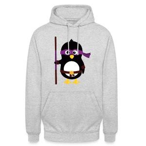 Pingouin Donatello - Sweat-shirt à capuche unisexe
