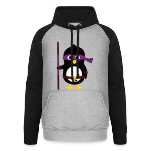 Pingouin Donatello - Sweat-shirt baseball unisexe