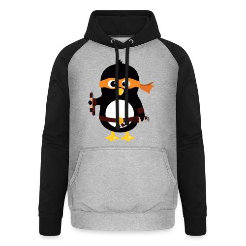Pingouin Michaealangelo - Sweat-shirt baseball unisexe
