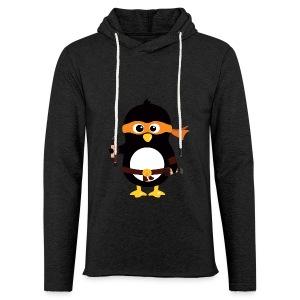 Pingouin Michaealangelo - Sweat-shirt à capuche léger unisexe