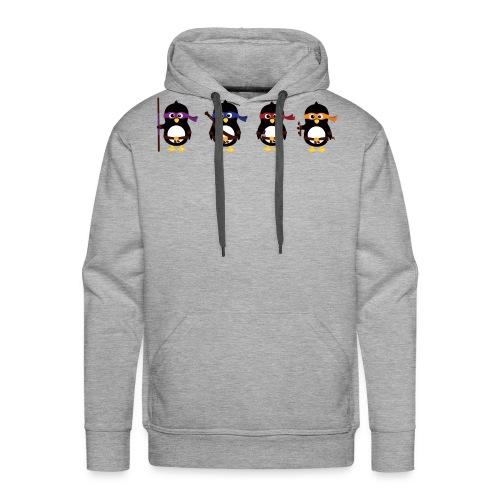 Pingouins Tortues ninjas - T-shirt homme - Sweat-shirt à capuche Premium pour hommes