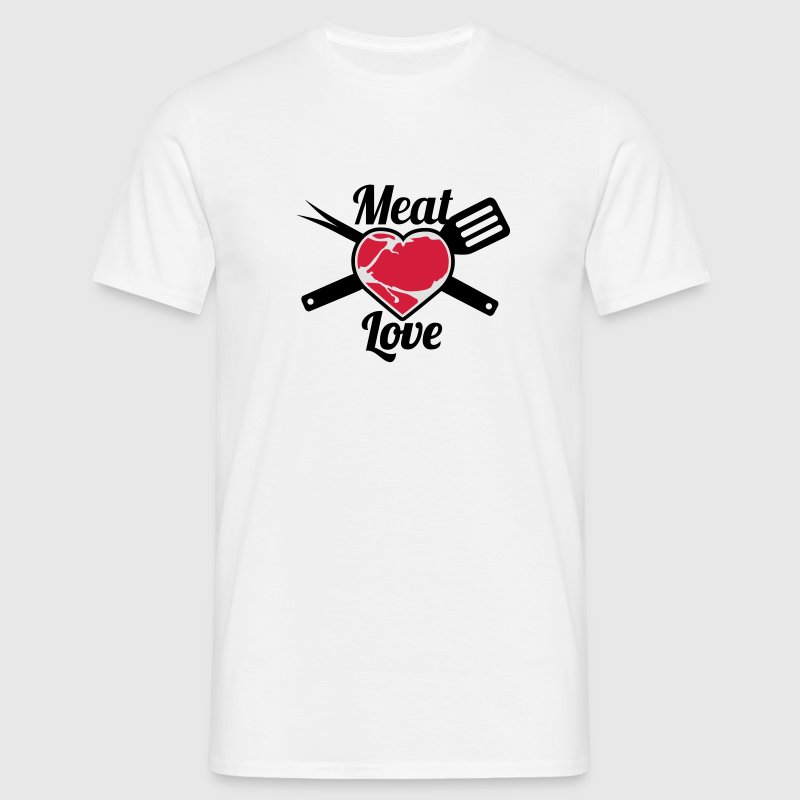 Meat Love | Fleisch Herz | Heart T-Shirts - Men's T-Shirt