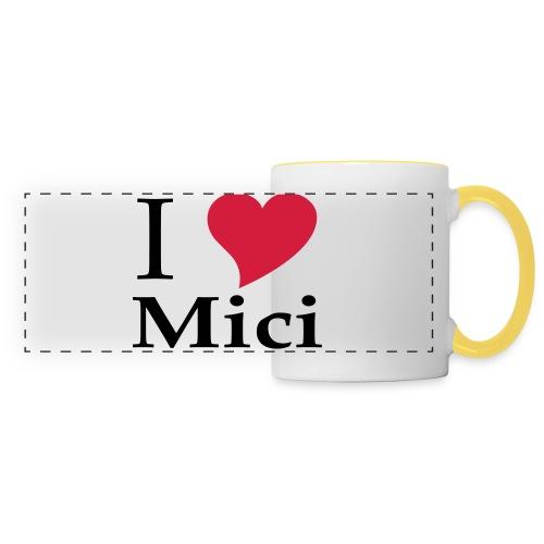Schürze I Love Mici - Das Nationalgericht in Rumänien - Panoramatasse