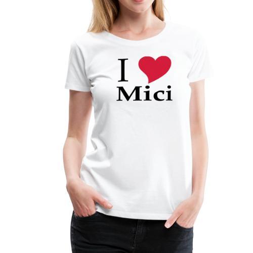 Schürze I Love Mici - Das Nationalgericht in Rumänien - Frauen Premium T-Shirt