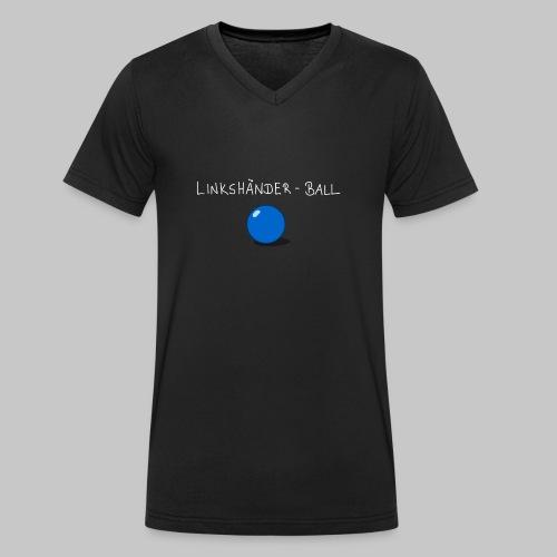 Linkshänderball - Männer Bio-T-Shirt mit V-Ausschnitt von Stanley & Stella