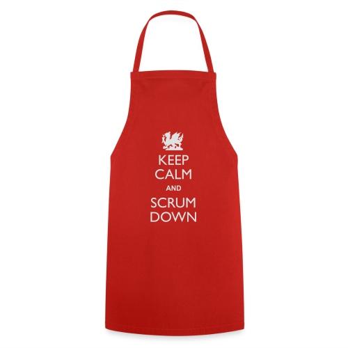 Wales Keep Calm Scrum Down - Hoodie - Cooking Apron