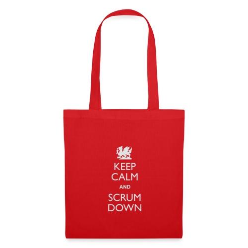 Wales Keep Calm Scrum Down - Hoodie - Tote Bag