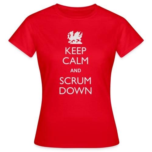 Wales Keep Calm Scrum Down - Hoodie - Women's T-Shirt