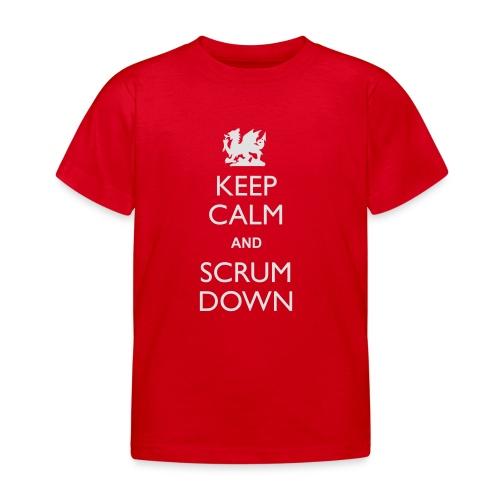 Wales Keep Calm Scrum Down - Hoodie - Kids' T-Shirt