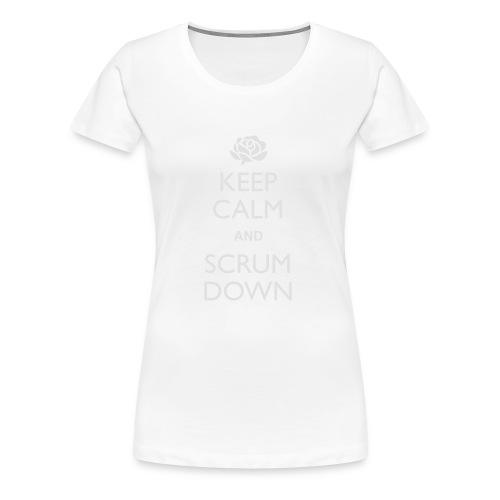England Keep Calm Scrum Down - Hoodie - Women's Premium T-Shirt