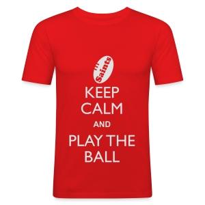 Saints - Keep Calm T - Men's Slim Fit T-Shirt
