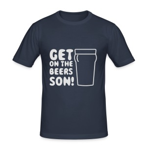 Get On The Beers Hoodie - Free colour choice - Men's Slim Fit T-Shirt