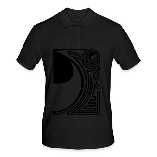 shirt ying yang double part two - Männer Poloshirt