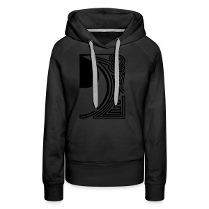 shirt ying yang double part two - Frauen Premium Hoodie