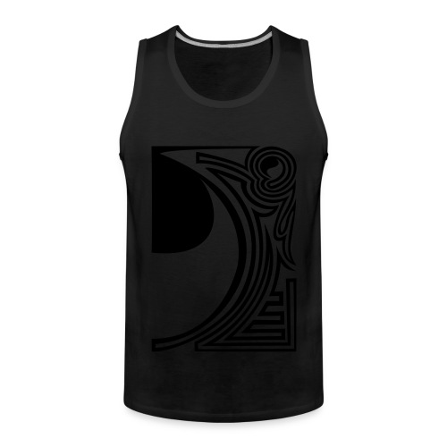 shirt ying yang double part two - Männer Premium Tank Top