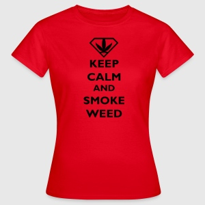 Keep Calm and Smoke Weed Pullover - Frauen T-Shirt