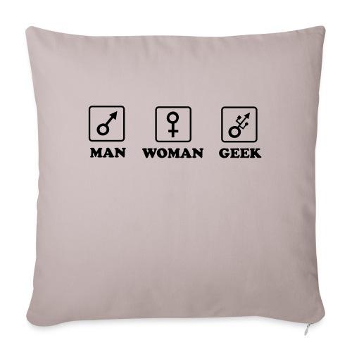 Man Woman Geek T-shirt - Housse de coussin décorative 44x 44cm