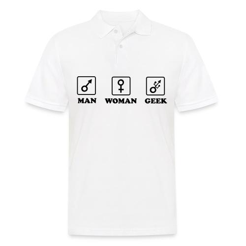 Man Woman Geek T-shirt - Polo Homme