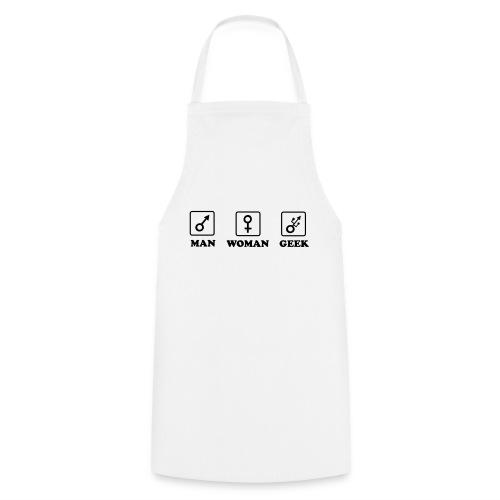 Man Woman Geek T-shirt - Tablier de cuisine