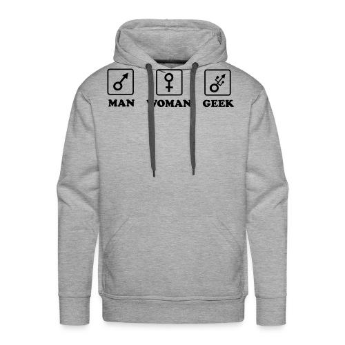 Man Woman Geek T-shirt - Sweat-shirt à capuche Premium pour hommes