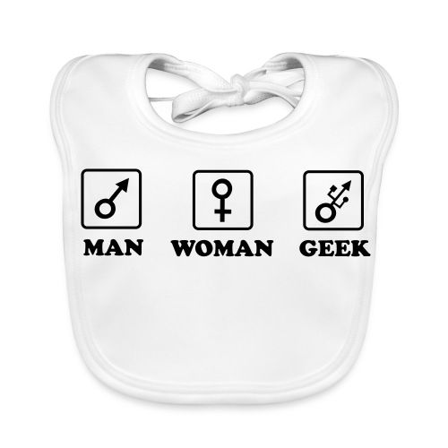 Man Woman Geek T-shirt - Bavoir bio Bébé