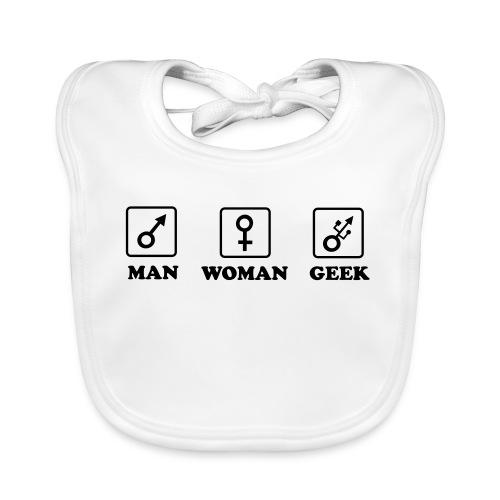 Man Woman Geek T-shirt - Bavoir bio Bébé
