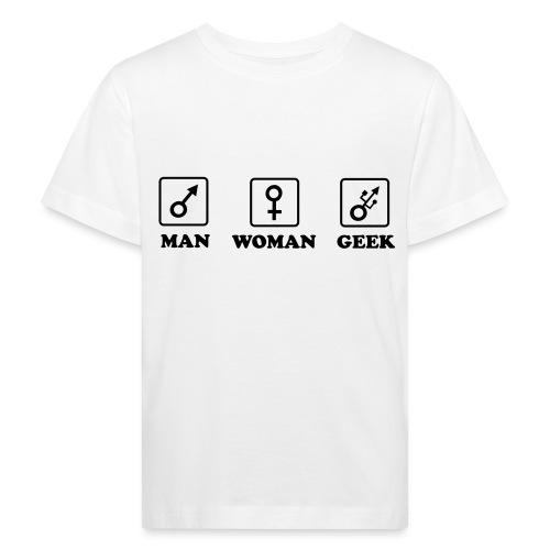 Man Woman Geek T-shirt - T-shirt bio Enfant