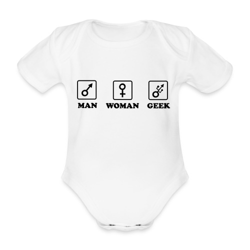 Man Woman Geek T-shirt - Body bébé bio manches courtes
