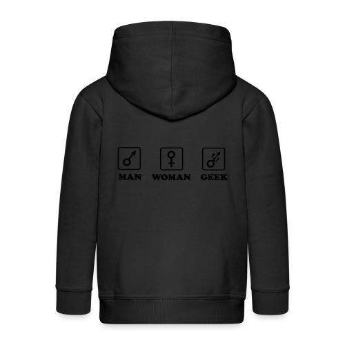 Man Woman Geek T-shirt - Veste à capuche Premium Enfant