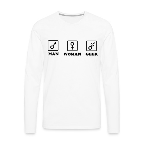 Man Woman Geek T-shirt - T-shirt manches longues Premium Homme