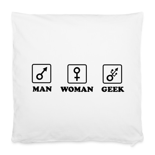 Man Woman Geek T-shirt - Housse de coussin 40 x 40 cm