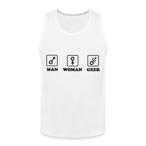 Man Woman Geek T-shirt - Débardeur Premium Homme