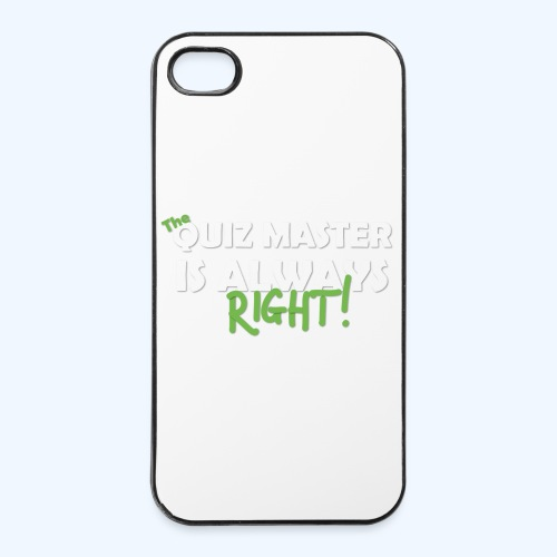 The Quiz Master is always right Retro Shirt - iPhone 4/4s Hard Case