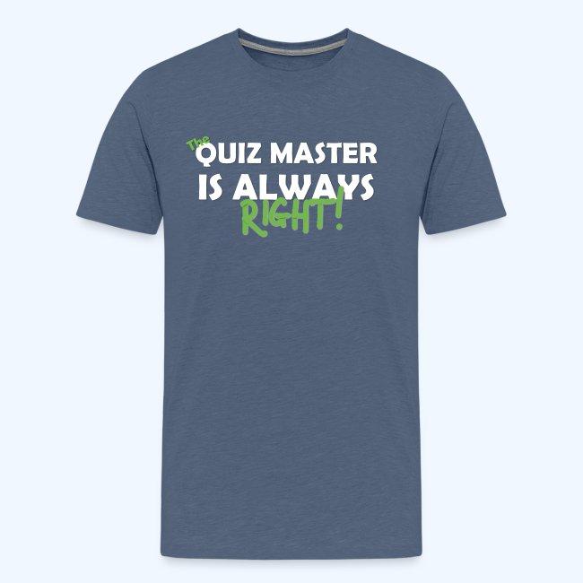 The Quiz Master is always right Retro Shirt