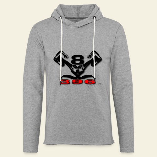 396 CUI V8 t-shirt - loose - Let sweatshirt med hætte, unisex
