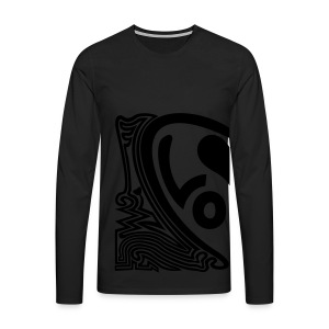 shirt halbes herz - Männer Premium Langarmshirt
