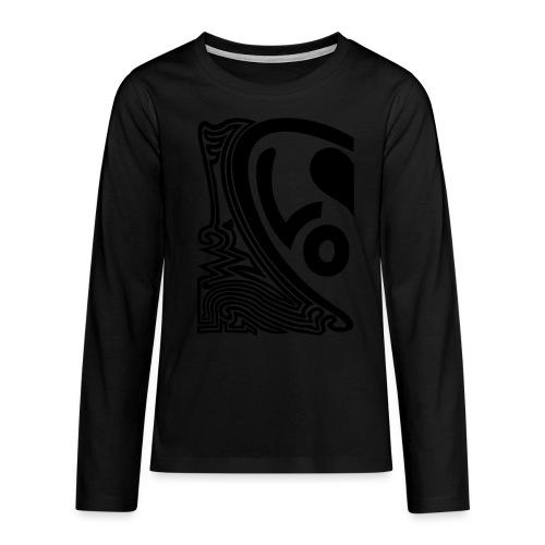 shirt halbes herz - Teenager Premium Langarmshirt