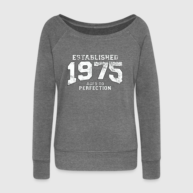established 1975 - aged to perfection (fr) Sweat-shirts - Pull Femme col bateau de Bella