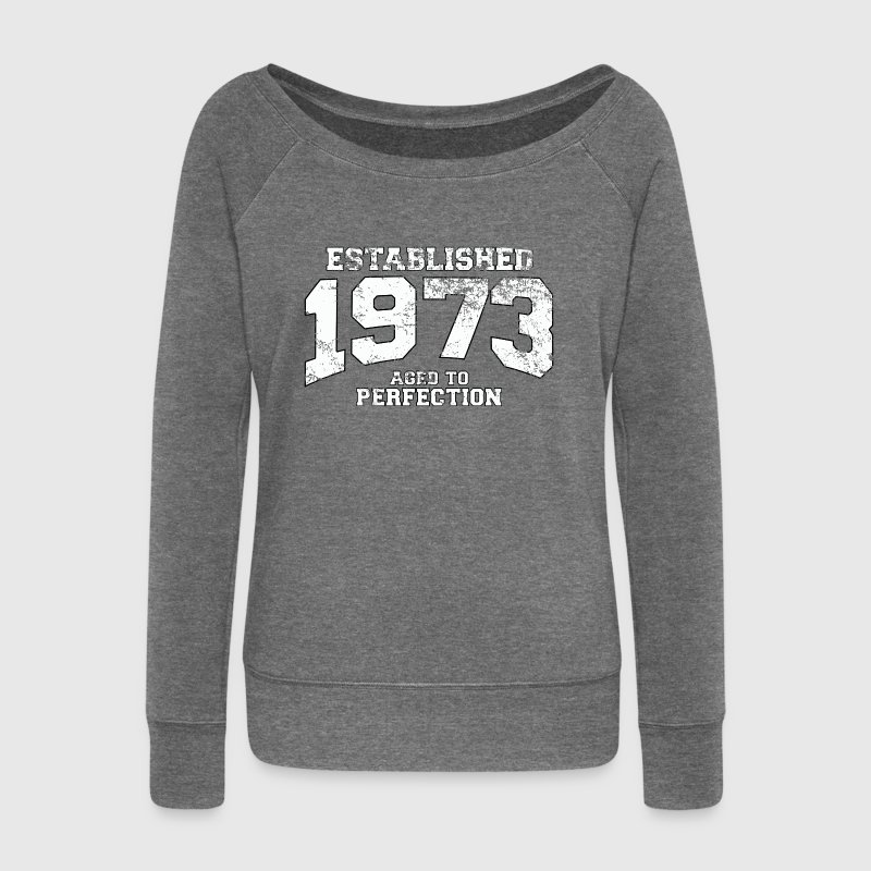 established 1973 - aged to perfection (fr) Sweat-shirts - Pull Femme col bateau de Bella