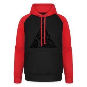 shirt maya pyramide 21.12. - Unisex Baseball Hoodie