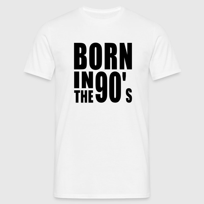 BORN IN THE 90s T-Shirt BW - Men's T-Shirt